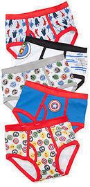 Marvel Avengers Characters Underwear Boys 4-7, 5pk