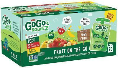 GoGo Squeez Applesauce on the Go 20-Pack