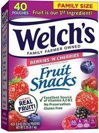 Welch's Fruit Snacks Berries 'n Cherries 40-Pack
