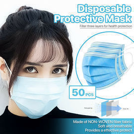 50 Pack Of Disposable 3-Ply Face Masks
