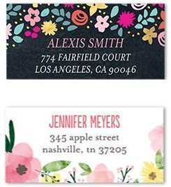 2 Sets of Personalized Address Labels
