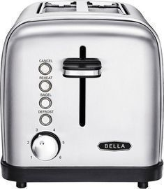 Bella Classics 2-Slice Wide-Slot Toaster, Stainless Steel