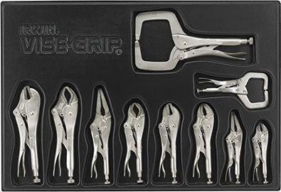 Irwin Vise Grip Locking Pliers Set w/ Tray, 10pc
