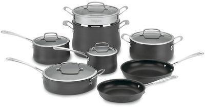 Cuisinart 13pc Contour Non-Stick Hard Anodized Cookware Set