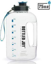 BOTTLED JOY 85oz Large Water Bottle, BPA Free, with Motivational Time Marker