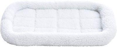AmazonBasics Faux-Sherpa Padded Bolster Pet Bed