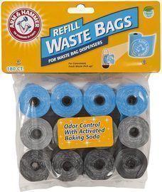 Arm & Hammer Disposable Waste Bag Refills 180-Pack