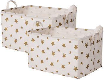 2pk Canvas Kids Storage Baskets