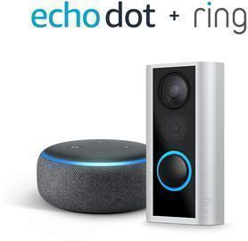 Ring Peephole Cam + Echo Dot (3rd Gen)