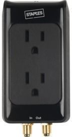 Staples 2-Outlet 1500 Joule Surge Protector with Coax
