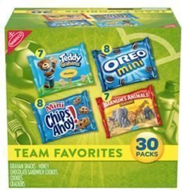 Nabisco Variety Pack Team Favorites Mix - 30 ct