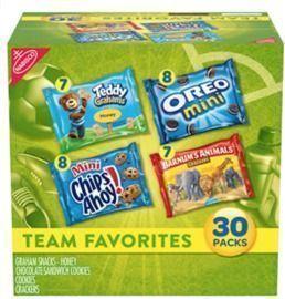 Nabisco Variety Pack Team Favorites Mix - 30 ct
