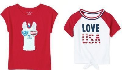 Girls' Americana Sequin Tees