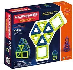 Magformers Classic Magnetic Building Blocks Set, 30pc