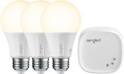 Sengled Smart LED A19 Starter Kit (3 Bulbs + 1 Hub, White Only)