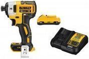 DeWalt 20V MAX XR Cordless 1/4 Impact Driver + Battery & Charger