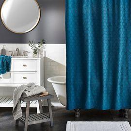 Scott Living Maze Jacquard Shower Curtain