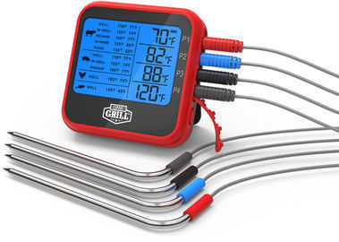 Expert Grill Four Probes Waterproof BBQ Grilling Thermometer