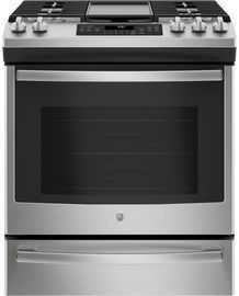 GE Gas Range w/ Self-Cleaning Convection Oven, Stainless Steel