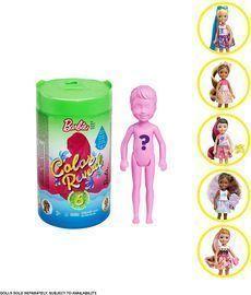 Barbie Chelsea Color Reveal Foodie Series Dolls