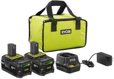 Ryobi 18V ONE+ Li-Ion 4.0Ah Battery Kit 2-Pack