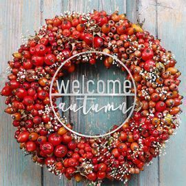 Wreath Welcome Insert Greetings