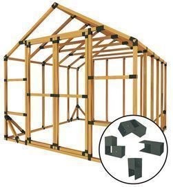 10 ft. W x 10 ft. D Custom DIY Storage Shed Kit by E-Z Frames