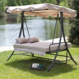 Coral Coast Lazy Caye 3 Person All-Weather Swing Bed