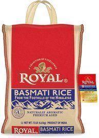 Authentic Royal Royal Basmati Rice, 15-Pound Bag