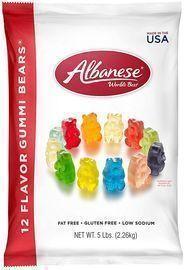 Albanese 5lb Bag World's Best 12 Flavor Gummi Bears