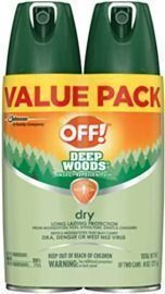 OFF! 2 Pack Deep Woods Insect & Mosquito 
