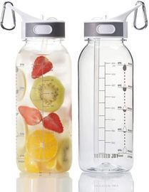 BOTTLED JOY 32oz Water Bottle with Straw