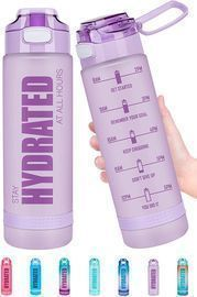 Fidus 22oz Motivational Water Bottle