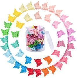 50 Pieces Butterfly Hair Clips