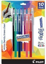 Pilot Frixion ColorSticks Erasable Gel Ink Pens
