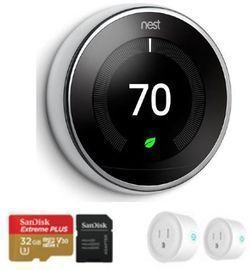 Google Nest Learning Smart Thermostat (3rd Gen) + Accessories