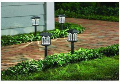 5pk of Solar Black LED 10 Lumens Path Lights