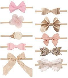 Set of 10 Infant Headbands