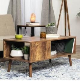 Wooden Mid-Century Modern Retro Coffee Accent Table