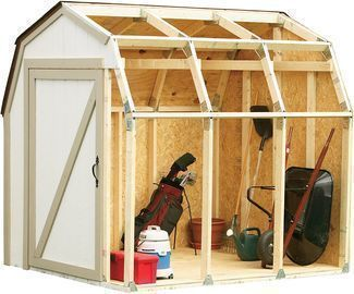 2x4basics Custom Shed Kit with Barn Roof