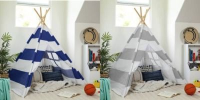 6' Kids Pretend Cotton Teepee Play Tent