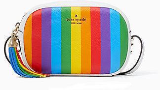 Kate Spade Kourtney Rainbow Stripe Camera Bag
