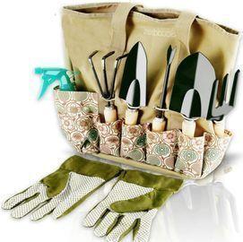 Scuddles Garden Tools Set - 8 Piece Heavy Duty Gardening Kit