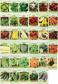 Set of 35 Assorted Vegetable & Herb Seeds