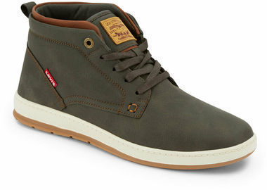 Levi's Mens Goshen Waxed Synthetic Leather Boot