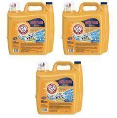 3x Arm & Hammer 224-oz. OxiClean Liquid Laundry Detergent