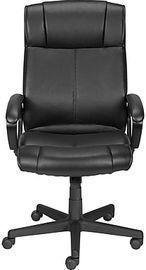 Staples Turcotte Luxura Faux Leather Computer & Desk Chair, Black
