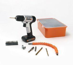 WORX WX104L 12V Drill/Driver w/ Boxed Project Kit, Refurb