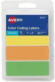 Avery Rectangular Color Coding Labels