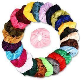 26 Velvet Scrunchies